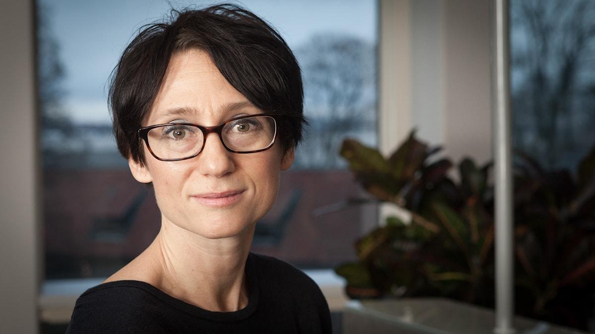 Marie Nilsson Boij, Sveriges Radio Ekot, november 2014. Foto: Pablo Dalence/Sveriges Radio.