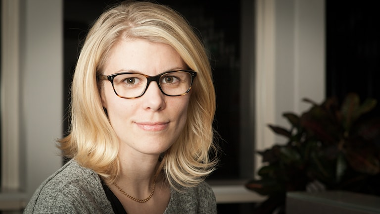 Marina Nilsson, Sveriges Radio Ekot, november 2014. Foto: Pablo Dalence/Sveriges Radio.