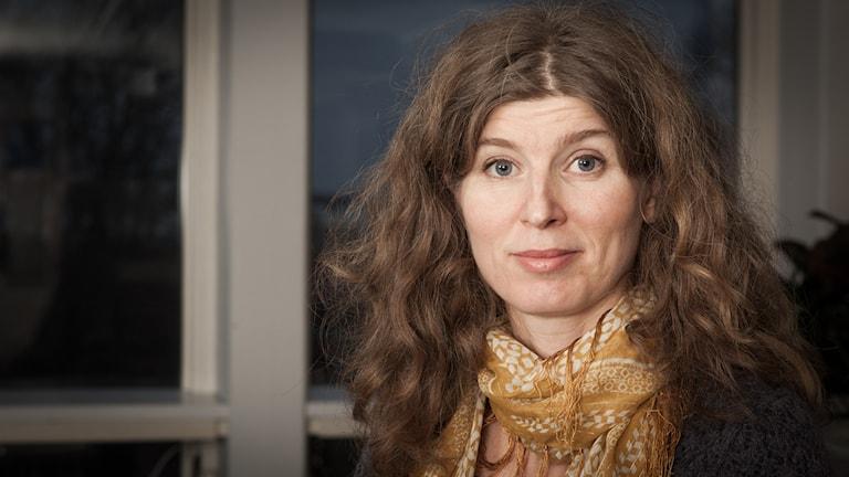 Mona Hambraeus, Sveriges Radio Ekot, november 2014. Foto: Pablo Dalence/Sveriges Radio.