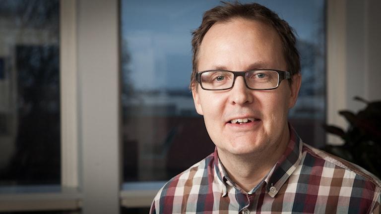 Pär Ivarsson, Sveriges Radio Ekot, november 2014. Foto: Pablo Dalence/Sveriges Radio.