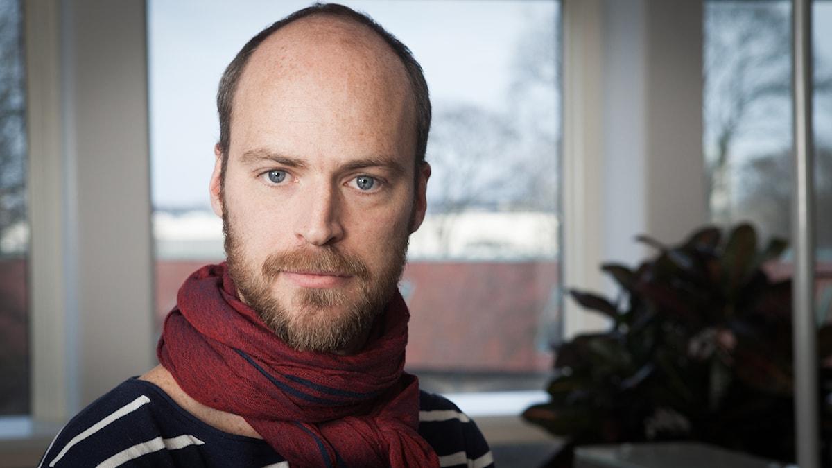 Samuel Larsson, Sveriges Radio Ekot, november 2014. Foto: Pablo Dalence/Sveriges Radio.