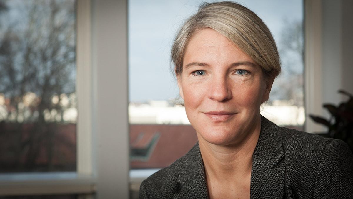 Sara Stenholm, Sveriges Radio Ekot, november 2014. Foto: Pablo Dalence/Sveriges Radio.