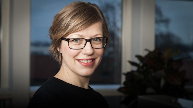 Tove Svenonius, Sveriges Radio Ekot, november 2014. Foto: Pablo Dalence/Sveriges Radio.