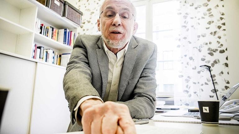 Lars EO Svensson, ekonomiprofessor och före detta vice riksbankschef. Foto: Magnus Hjalmarson Neideman/ TT.