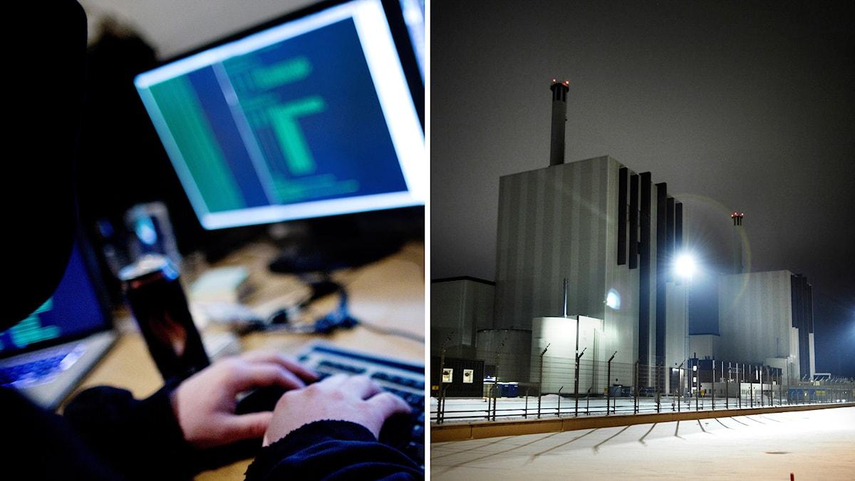 Forsmarks kärnkraftverk tillhör den industri som bör känna oro för cyberattacker, menar säkerhetsexperten Tomas Djurling. Foto: TT