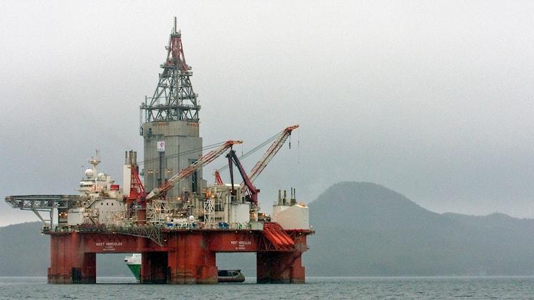 Norsk oljeplattform. Foto: TT.
