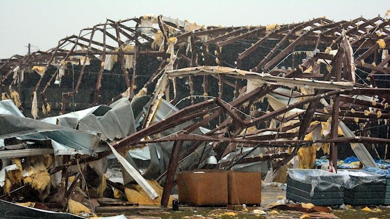 Hus totalförstördes i Mississippi. Foto: Eli Baylis/AP.
