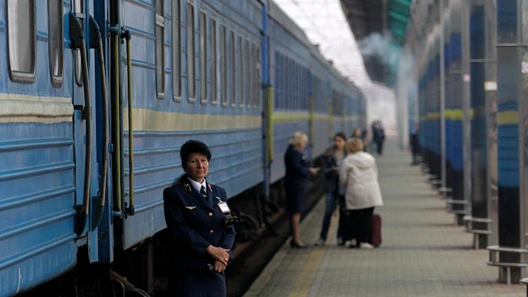 Tåglinjen mellan Donetsk till Sevastopol i Ukraina. Foto: TT