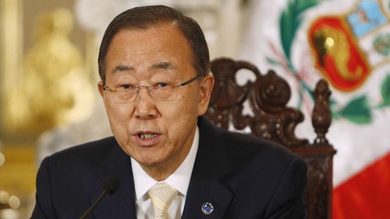 FN:s generalsekreterare Ban Ki-moon. Foto: Juan Karita/TT.