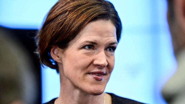 Anna Kinberg Batra väljs till ny partiledare på moderata extrastämman i Solna på lördagen. Foto: TT