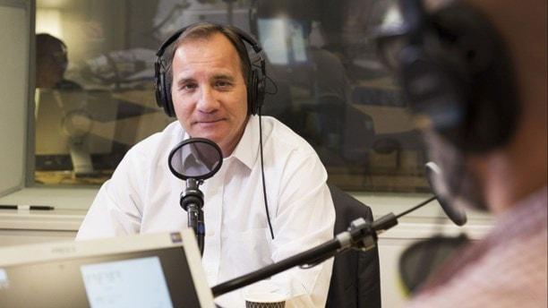 Stefan Löfven (S) i studion. Foto: Mattias Ahlm/Sveriges Radio