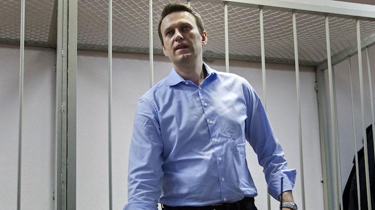Idag står Alexej Navaljnys rättegång. FOTO: Scanpix.
