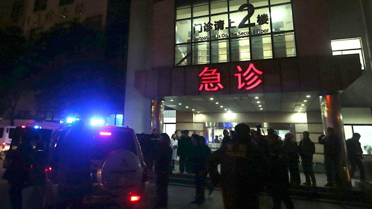 Räddningsmanskap i Shanghai. Foto: Ding Ting/TT.