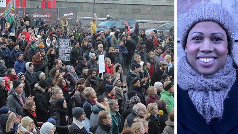 Alice Bah Kunhke, demonstrationer mot islamofobi, Foto: P3 Nyheter