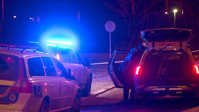 En skadad man hittades i Hökarängen i södra Stockholm. Foto Pontus Lundahl/TT.