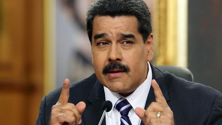 Venezuelas president Nicolas Maduro. Foto: Arianda Cubillos/TT.