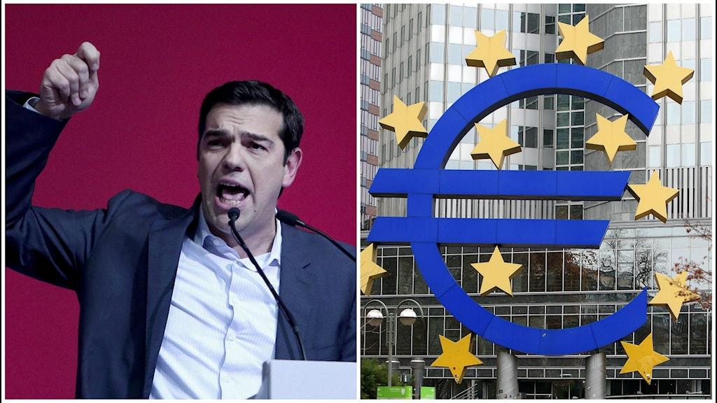 Radikala vänsterpolitikern Alexis Tsipras, ledare för grekiska Syriza -partiet.