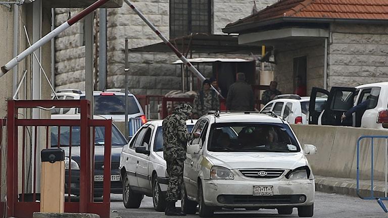 Gränsövergång mellan Libanon och Syrien. Foto: Hussein Malla/TT.