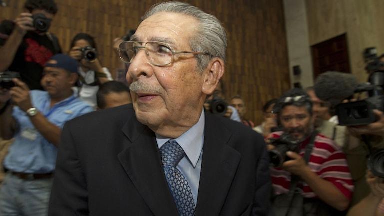 Guatemalas tidigare diktator Efrain Rios Montt. Foto: Moises Castillo/TT.
