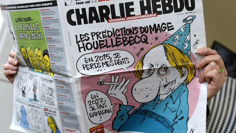 Ett av satirtidningen Charlie Hebdos tidigare omslag. Foto: TT