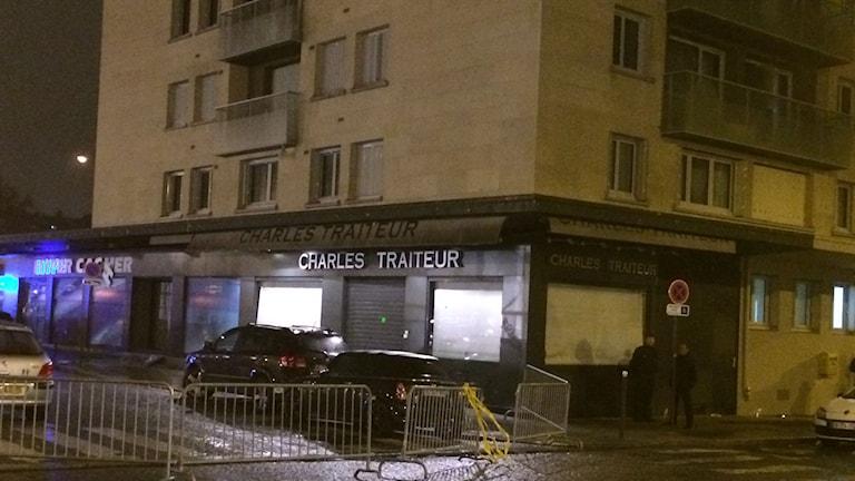 The kosher supermarket that was attacked in Paris, Photo: Margareta Svensson/Sveriges Radio