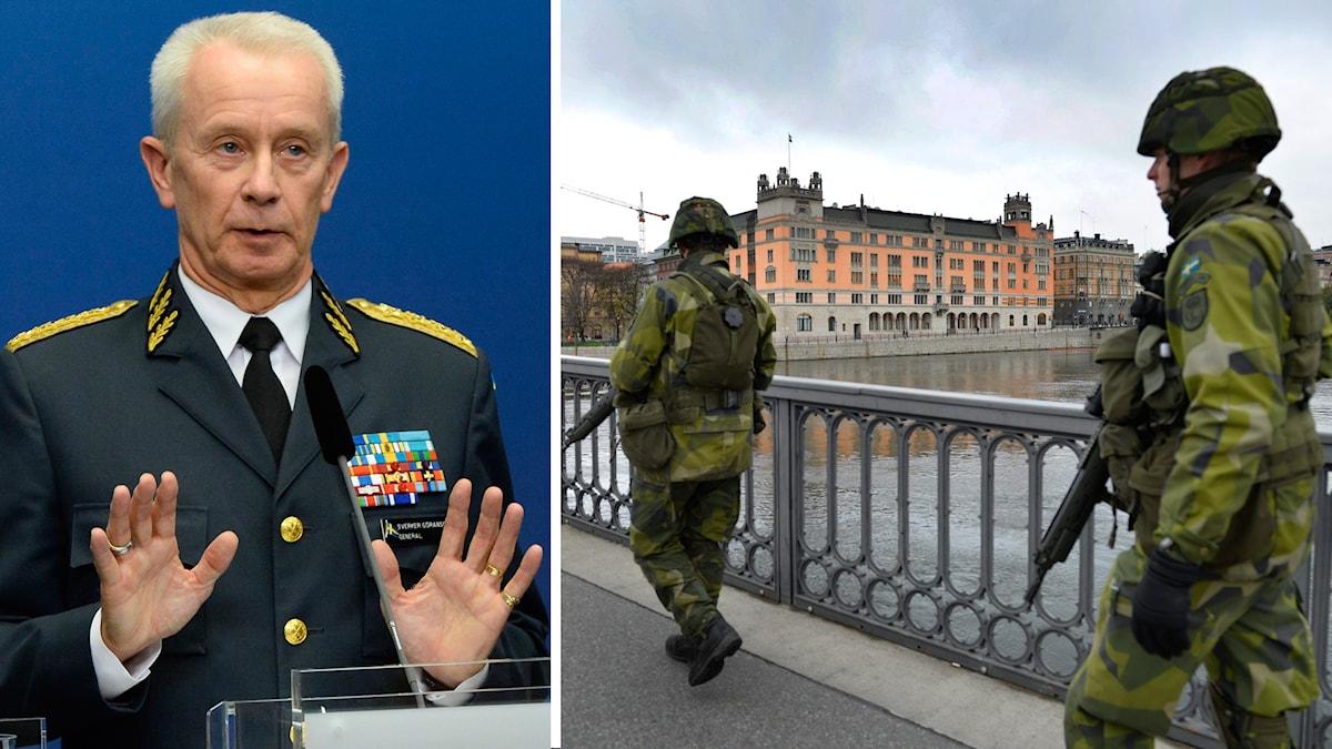 ÖB Sverker Göransson, svensk militär. Foto: TT