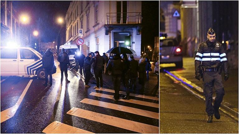 Anti-terroräden i belgiska staden Viviers slutade med att två av de misstänkta sköts till döds av polis och den tredje greps.