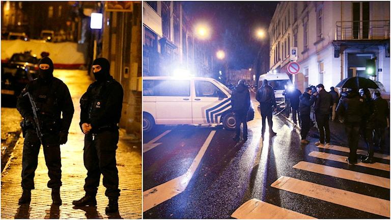Två dog och en greps när belgisk polis stormade en lägenhet i centrala Verviers. Foto: TT