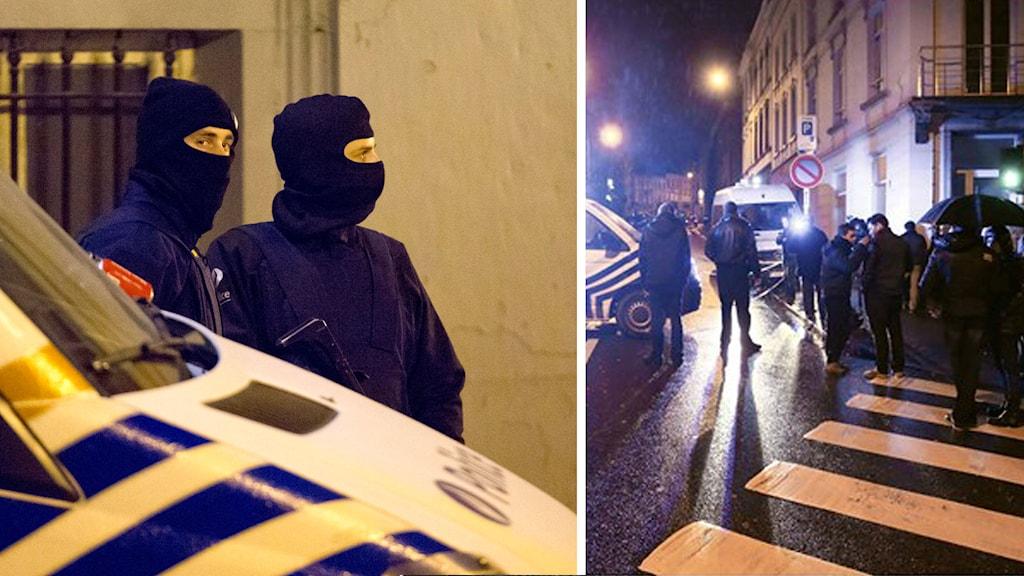 Anti-terroräden i belgiska staden Verviers slutade med att två av de misstänkta sköts till döds av polis och den tredje greps. Foto: TT.