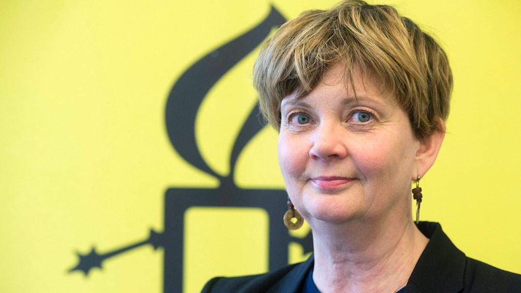 Madelaine Seidlitz, Amnesty. Bild: Leif R Jansson/TT