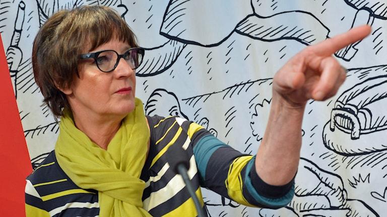 Kommunals ordförande Annelie Nordström. Foto: Jonas Ekströmer/TT.