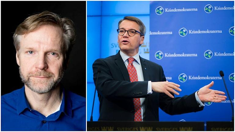 Göran Hägglund sträcker sig efter enklast möjliga väljare för att rädda partiet, enligt Tomas Ramberg. Foto: Ekot/TT