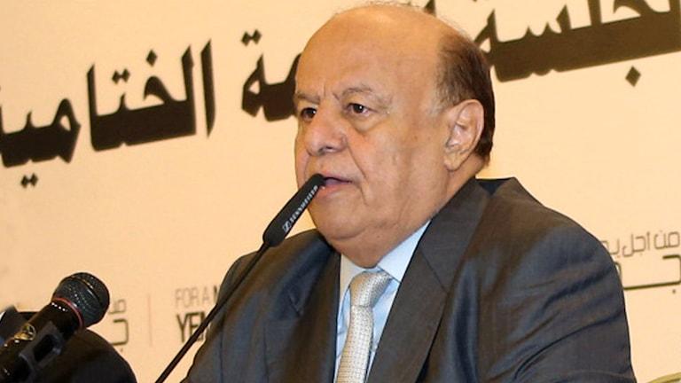Abed Rabbo Mansour Hadi, president i Jemen. Foto: TT