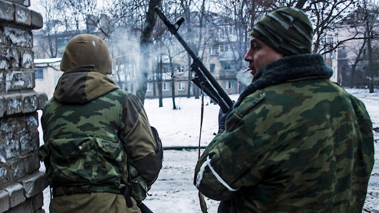 Separatister i Donetsk. Foto: Manu Brabo/AP.