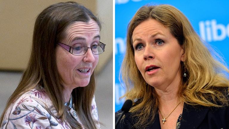 EU-parlamentariker Bodil Ceballos (MP) och EU-parlamentarikern Cecilia Wikström (FP). Foto: TT