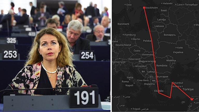 Cecilia Wikström (FP) i EU-parlamentet. Foto: Fredrik Persson/TT