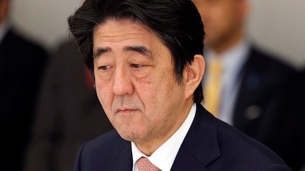 Japans premiärminister Shinzo Abe. Foto: Shizuo Kambayashi/TT.