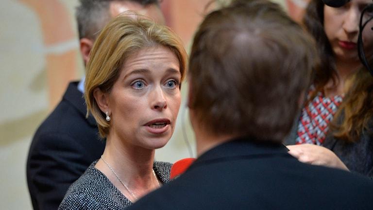 Socialförsäkringsminister Annika Strandhäll. Foto: Henrik Montgomery/TT.