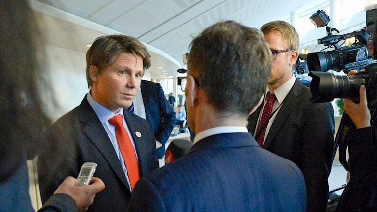 Erik Ullenhag, gruppledare för Folkpartiet i riksdagen. Foto: Janerik Henriksson/TT.