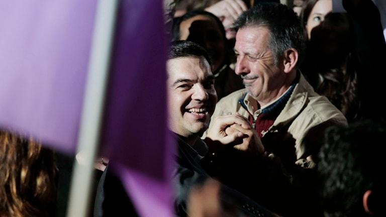 Alexis Tsipras, Syrizas partiledare. Foto: Lefteris Pitarakis/TT