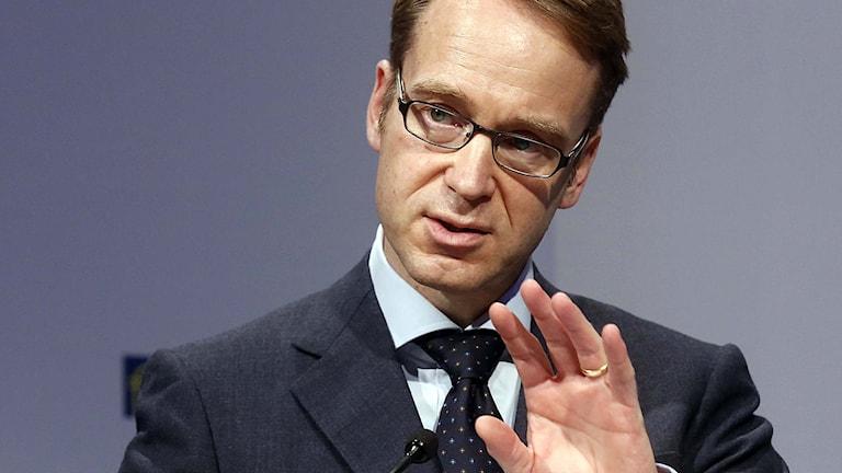 Jens Weidmann chef för den tyska Centralbanken. Foto: Alex Domanski/TT.