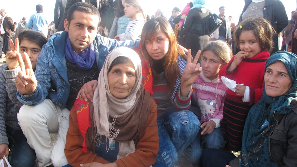 Flyktingar från Kobane hoppas på att kunna åka hem. Foto: Katja Magnusson / Sveriges Radio
