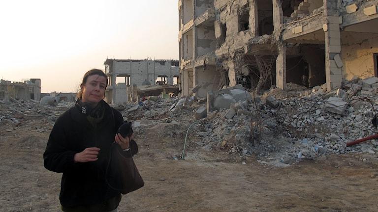 Katja Magnusson i Kobane.