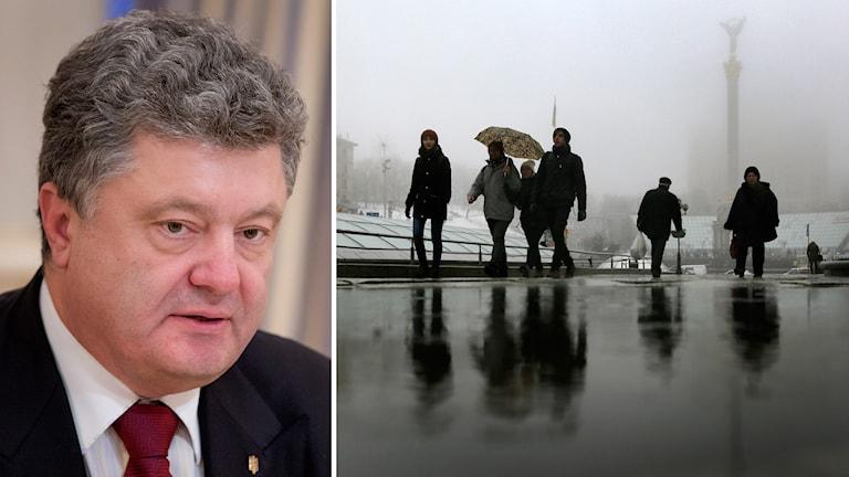 Ukrainas president Petro Porosjenko, Kiev. Foto: TT
