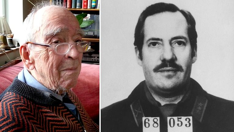 Olof Frånstedt, före detta chef för kontraspionaget på Säpo, och Stig Bergling. Foto: TT / Sveriges Radio