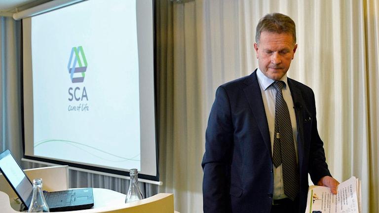 Jan Johansson är SCA:s vd. Foto: Henrik Montgomery/TT.