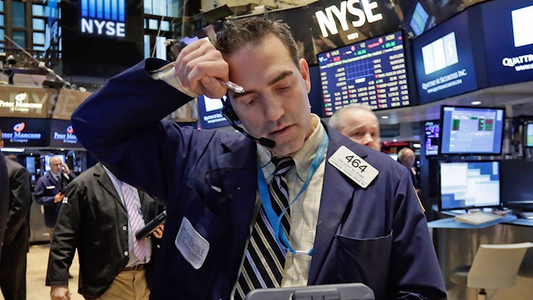 Aktiehandlare på Wall Street. Foto: Richard Drew/AP.