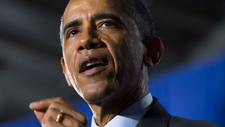 USA:s president presenterar sin budget. Foto: Eva Vucci/TT