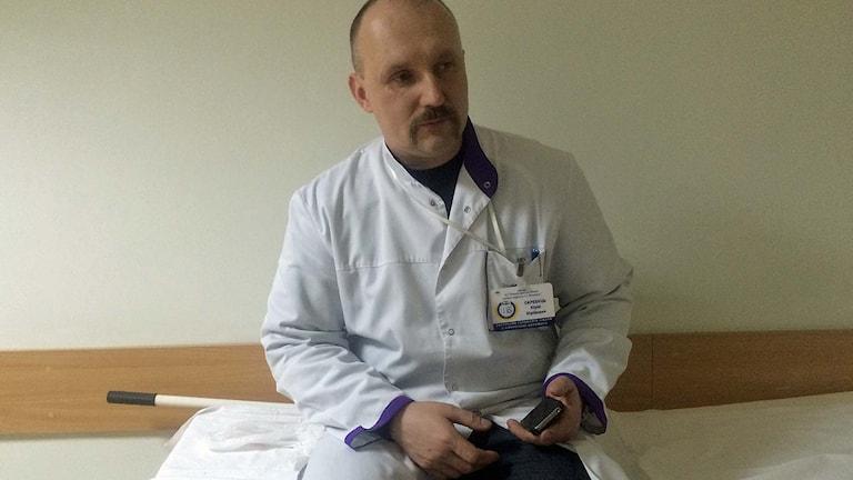Ukrainske läkaren Jurij Skrebets. Foto: Johanna Melén/Sveriges Radio.