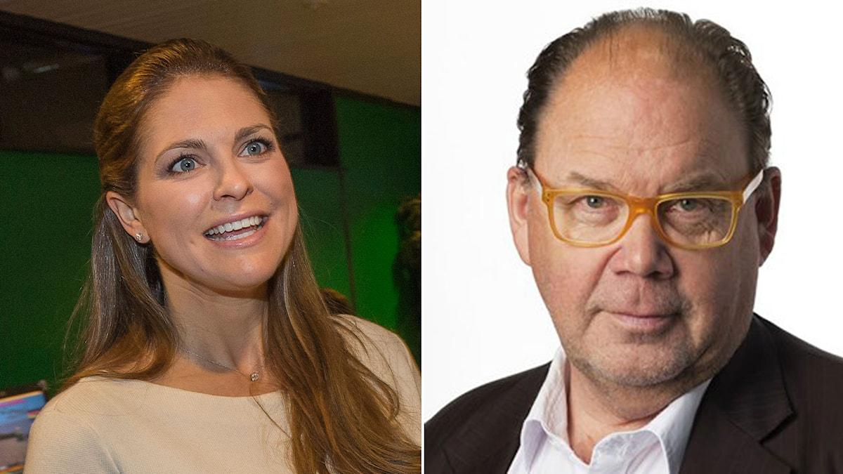 Prinsessan Madeleine på besök i Gävle. Leif Eriksson, kanalchef på P4 Gävleborg. Foto: TT/Sveriges Radio.